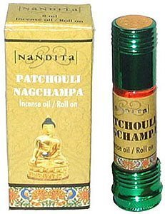 Patchouli Nag Champa - Nandita Incense Oil/Roll On - 1/4 Ounce Bottle