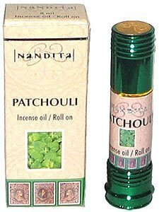 Patchouli - Nandita Incense Oil/Roll On - 1/4 Ounce Bottle by Nandita Incense Oil/Roll On