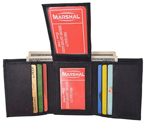 Leather Wallets for Men Front Pocket Slim Trifold Wallet