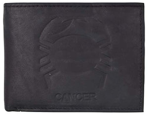 Cancer Zodiac Sign Bifold Trifold Genuine Leather Men's Wallets