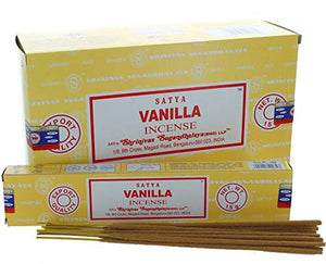 Satya Vanilla Incense 12pack of 15gm - menswallet