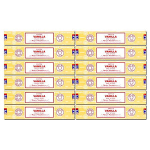 Satya Nag Champa Vanilla Incense Sticks, 12packs x 15grams - menswallet