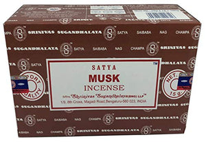 Satya Sai Baba Nag Champa - Musk Incense Sticks Box - Pack of 12 (15 Gram) - menswallet