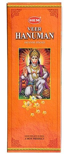 Veer Hanuman - Box of Six 20 Stick Hex Tubes - HEM Incense Hand Rolled In India