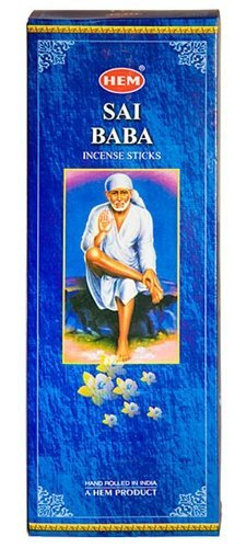 Sai Baba - Box of Six 20 Gram Tubes (120 Sticks) - HEM Incense