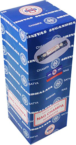 Cultural Exchange Satya Sai Baba Classic Nag Champa Incense Sticks [25 Packs x 10 Sticks Per Pack - Brown - 10 g] - menswallet