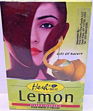 Hesh Pharma Ayurveda Herbal Lemon Peel Powder for Skin Care Skin Cleanser and Astringent (3.5 oz / 99.2 g)