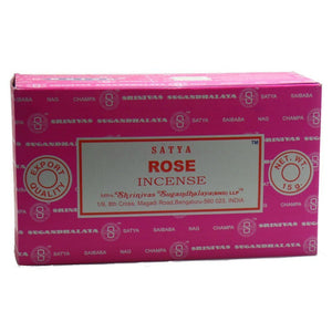 Satya Nag Champa Rose Incense Sticks, 12 Count