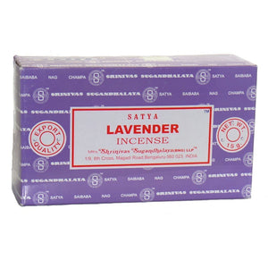 Satya Nag Champa Lavender Incense Sticks, 12 Count - menswallet