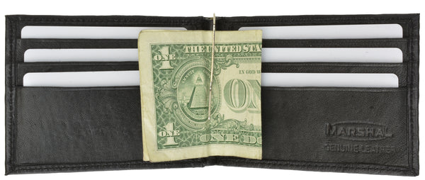 Genuine Lambskin Soft Leather Money Clip with Credit Card Holder 62 (C)