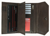 Ladies Genuine Leather Checkbook Holder Credit Card ID Organizer Wallet 6575 CF (C)