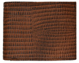 Snake Print Cowhide Leather Bifold Wallet with Flip ID Window & Credit Card Slots 71053 SN (C)