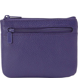 Buxton Womens Leather Id Coin Card Case Wallet (Mulberry Purple) - wallets for men's at mens wallet