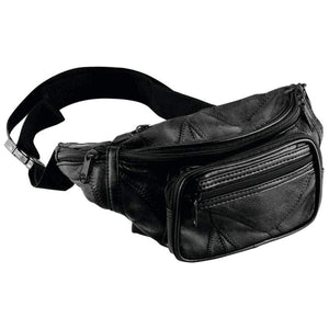 Maxam Italian Mosaic Genuine Lambskin Leather Waist Bag, Black - wallets for men's at mens wallet
