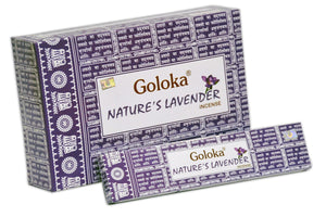 Goloka Nature's Lavender series collection incense sticks- 6 boxes of 15 gms (Total 90 gms)