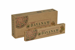 Goloka Davanam Organika collection incense sticks- 6 boxes of 15 gms (Total 90 gms)