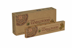 Goloka Sandalwood Organika collection incense sticks- 6 boxes of 15 gms (Total 90 gms)