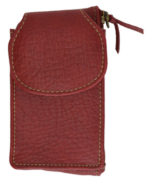 Buxton Cellphone Case with Zipped Card Holder Red