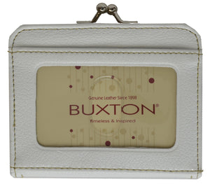 Buxton Ladies Change Purse with Front Id Window and Clasp Closure - wallets for men's at mens wallet