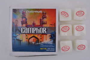 Charminar Camphor Tablets from India 400 Grams 64 Tablets Charminar Brand