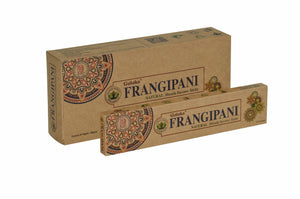Goloka Frangipani Organika collection incense sticks- 6 boxes of 15 gms (Total 90 gms)