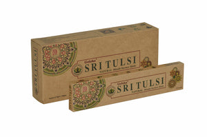 Goloka Sri tulsi Organika collection incense sticks- 6 boxes of 15 gms (Total 90 gms)