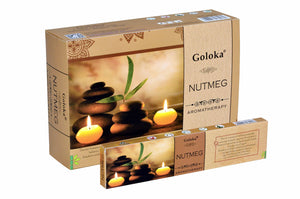 Goloka Aroma Nutmeg series collection incense sticks- 6 boxes of 15 gms (Total 90 gms)