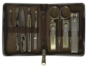 Three Seven 777 Stainless Steel Travel & Grooming set, Personal Care Tools with Case