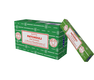 Satya Nag Champa Patchouli Incense Sticks, 12 Count - menswallet