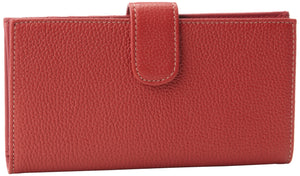 Mundi Rio Leather Checkbook Cover Wallet,Red,one size - menswallet