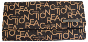 Kenneth Cole Reaction Women's Word Design Tried & True Trifold Wallet Clutch - wallets for men's at mens wallet