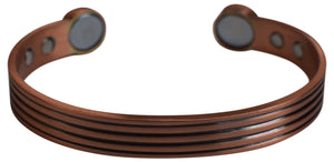 Striped 100% Copper Bracelet. Made with Solid and High Gauge Pure Copper& Magnets Helps Reducing Joint Pain and Stiffness, - wallets for men's at mens wallet