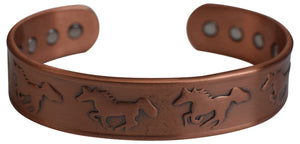 Magnetic Pure Copper Bracelet Horse Logo for Arthritis Wristband - wallets for men's at mens wallet