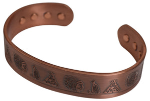 Indian Tribe Pure Copper Magnetic Bracelet for Therapy Pain Relief - wallets for men's at mens wallet
