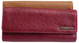 Kenneth Cole Reaction Women's Ostrich Elongated Clutch Wallet - wallets for men's at mens wallet