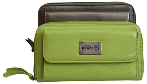 Kenneth Cole Reaction Womens Napa Zip-Around Urban Organizer Ladies Wallet
