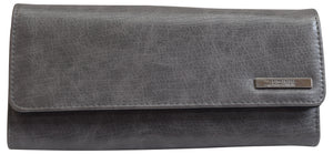 Kenneth Cole Reaction Ladies Elongated Clutch Trifold Wallet - wallets for men's at mens wallet