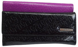 Kenneth Cole Reaction Women's Fashion Elongated Clutch Signature Design Wallet - wallets for men's at mens wallet