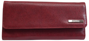 Kenneth Cole Reaction Elongated Clutch Women's Red Trifold Wallet
