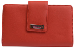 Kenneth Cole Reaction Mirror Utility Tab Clutch Orange Women's Wallet