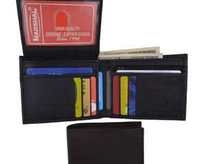 Genuine Leather Bifold Credit Card ID Mens Wallet 1613 - wallets for men's at mens wallet