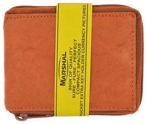 Zip Around Bifold Wallet with Card Slots and Zipped Coin Space for Men 1656 CF