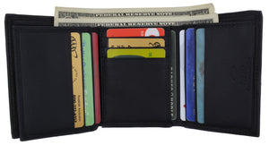 Swiss Marshall Men's RFID Blocking Premium Leather Classic Trifold Wallet