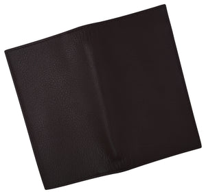 Genuine Cow Napa Leather Slim Checkbook Cover With Pen Holder