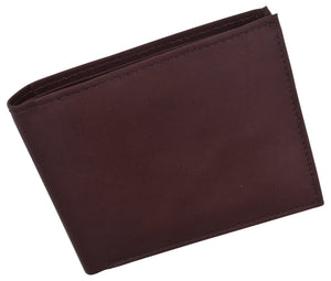Bifold Men's RFID Blocking Genuine Leather Credit Card ID Wallet