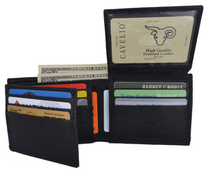 Bifold Mens Genuine Leather Multi-Card ID Holder Wallet by Cavelio - wallets for men's at mens wallet
