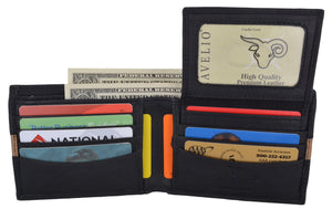 Cavelio Leather Men's Bifold Credit Card Removable ID Wallet - wallets for men's at mens wallet