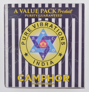 Camphor Tablets from India - 320 grams - 64 tablets (16 blocks of 4)