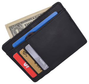Slim Wallet Leather RFID Blocking ID Credit Card Holder Minimalist Gift for Men