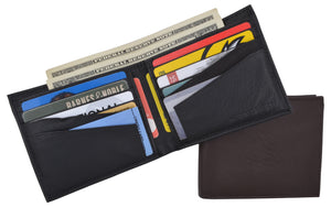 RFID Blocking Premium Leather Bifold Men's Multi-Card Holder Wallet - wallets for men's at mens wallet